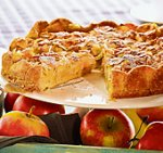 tourte aux pommes et aux amandes.