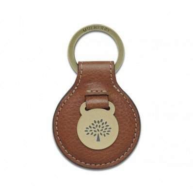 Mulberry Heritage Keyring Oak Natural Leather - Mulberry Keyrings - Purses Accessories
