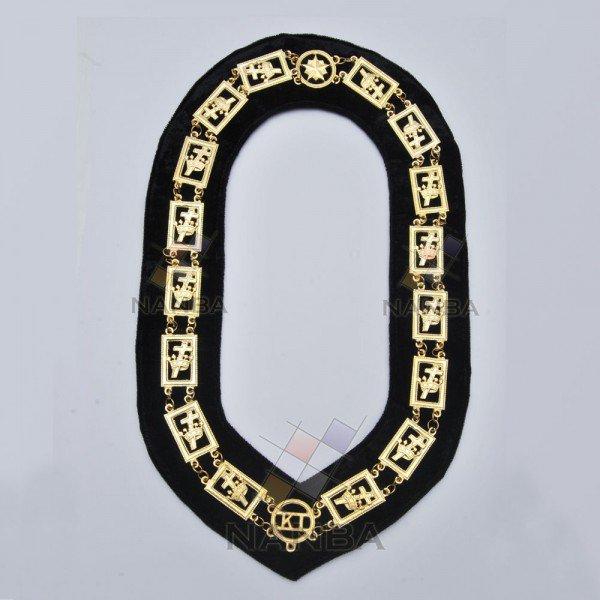 Masonic Knights Templar Chain Collar (gold)