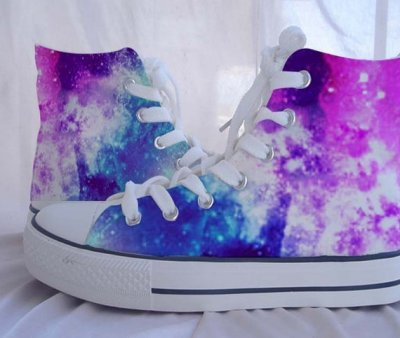 Custom Converse Galaxy Converse Sneakers,High-top Painted Canvas Shoes