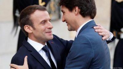 Trudeau se joint à Macron pour célébrer les frappes aériennes contre la Syrie  *«Nous avons une convergence de vue très forte», a déclaré Macron lors d'une conférence de presse conjointe avec Trudeau lundi après-midi. Pour sa part, Trudeau s'est dit enthousiaste: «Le Canada, la France et l'Europe sont extrêmement alignés». Il a particulièrement vanté l'accord de libre-échange Canada-UE et l'accord bilatéral avec la France sur la lutte contre le changement climatique signé lundi.  **Le sommet a souligné le soutien indéfectible de Trudeau à la violence impérialiste. Son gouvernement libéral, qui s'est engagé à augmenter les dépenses militaires de plus de 70% au cours de la prochaine décennie, a élargi le rôle du Canada dans les offensives stratégiques militaires menées par les États-Unis, y compris le renforcement militaire agressif de l'OTAN en Europe de l'Est en confrontation directe avec la Russie, est sans aucun doute «extrêmement aligné» avec Macron. Le gouvernement français, en plus du lancement de missiles en Syrie sur la base de déclarations non fondées et hautement douteuses d'une attaque d'armes chimiques syriennes, a récemment proposé une augmentation des dépenses militaires de 300 milliards d'euros. De plus, avec l'Allemagne, la France est le fer de lance de la militarisation de l'Union européenne en vue d'affirmer agressivement leurs intérêts impérialistes respectifs sur la scène mondiale.