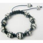 Bracelet shamballa mixte blanc et noir - KELLSBIJOUX