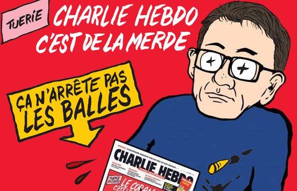 Charlie Hebdo, c'est de la merde, ça n'arrête pas les balles