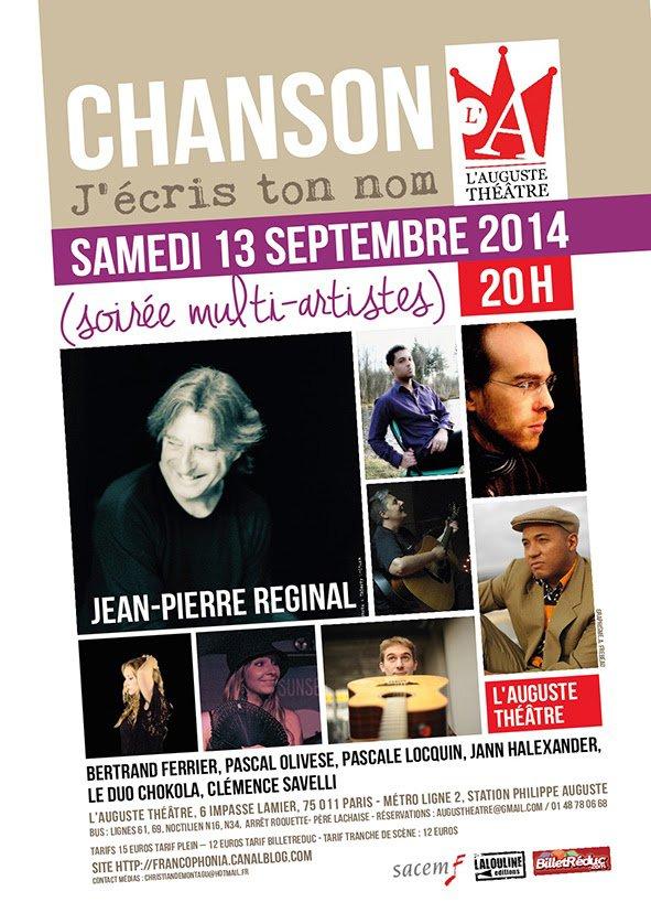 Christian de Montagu aime la chanson...: Mot de l'organisateur de la première édition de la soirée 'Chanson j'écris ton nom'