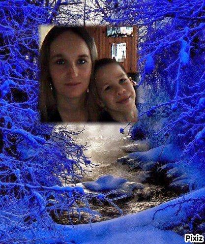 Résultat du montage photo : Paysage d'hiver avec neige - Pixiz