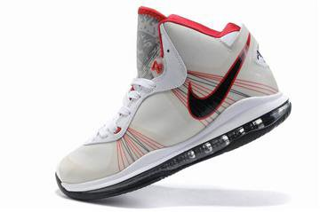 Nike LeBron 8 V2 White Black Red Mens cheap sale
