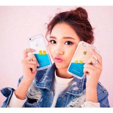 2015 date liquide canard de l'eau piscine retour housse pour iphone 4/4S iphone 5/5S iphone 6/6 plus samsung note 2/3/4 samsung s4/s5/s6/s6 edge