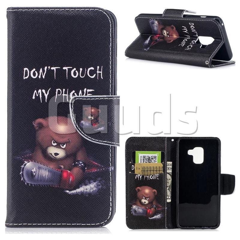 Chainsaw Bear Leather Wallet Case for Samsung Galaxy A5 2018 A530 - Leather Case - Guuds