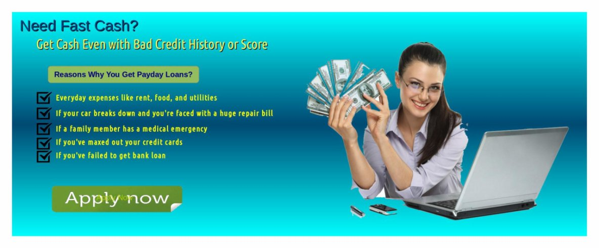 Take Instant Payday Loan With bad Credit History