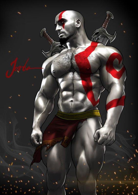 Kratos, dieu de la Guerre, ou appelé aussi God of War. <3