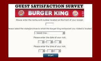 Burger king online survey