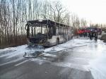 Un bus ravagé par le feu entre Eben et Loën…