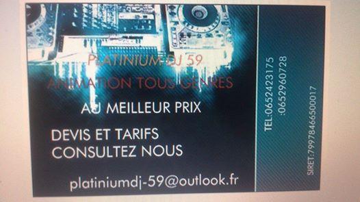 PLATINIUM DJ ANIMATION le 2014-04-26 - Nord, Nord-Pas-de-Calais - Chezmatante.fr
