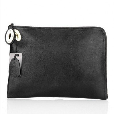 Durable Mulberry Clutch Bag Soft Leather Black Sale Online