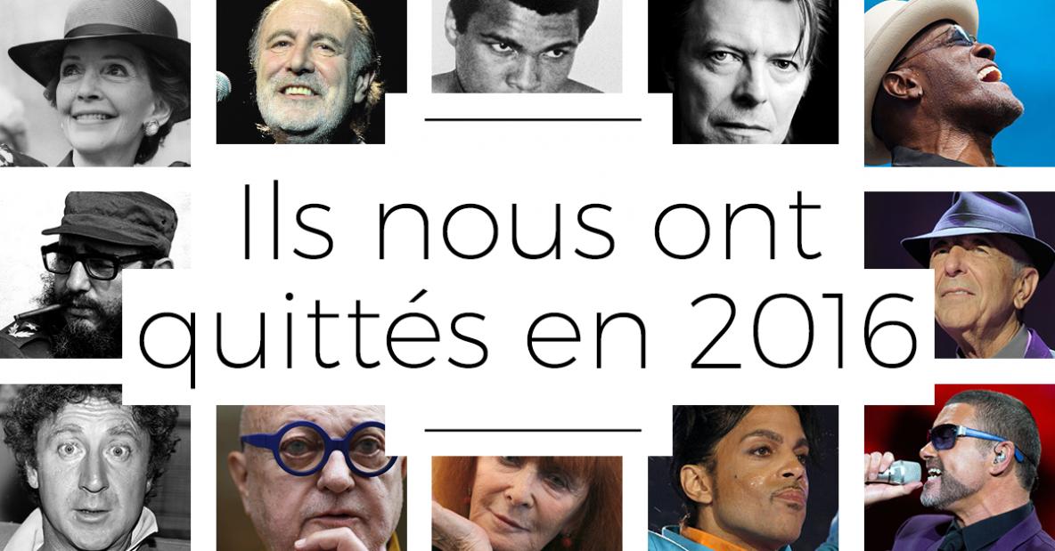 Ils nous ont quittés en 2016 - RFI