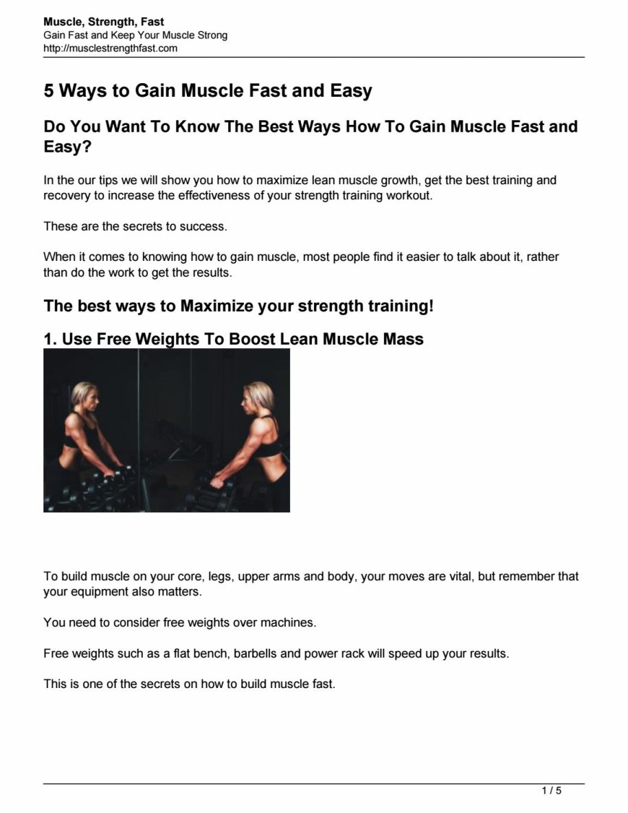 5 ways to build muscle fast