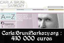 Pétition | Carla Bruni: Faites don des 410000¤ d'argent public dépensés pour votre site personnel #CarlaFaitesUnDon | Change.org