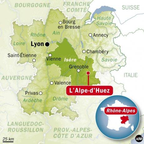 France Bleu | Un mort et trois blessés graves dans un accident d'autocar à l'Alpe d'Huez