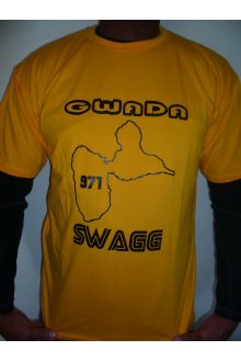 "T-shirt jaune ""GWADA Swagg"" Collector (edition limitée) - lOOked MIAMI"