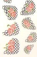 water decal;nail art,manucure,beauté,french,résille,fleurs,noir,rouge