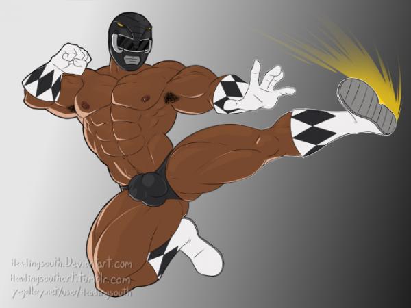 Le Power Ranger Force Noire et moi vous souhaitons une très bonne s...