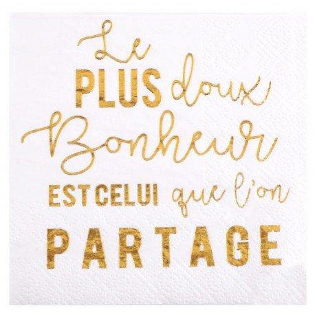 Petite serviette de table Petits bonheurs papierx20 Serviettes papier