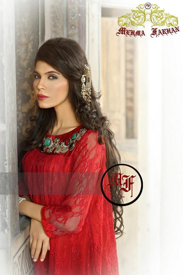 Pakistani Fashion Style: Post 1,, Mehma Farhan Red Mughal's Bridal Wear Dresses 2013