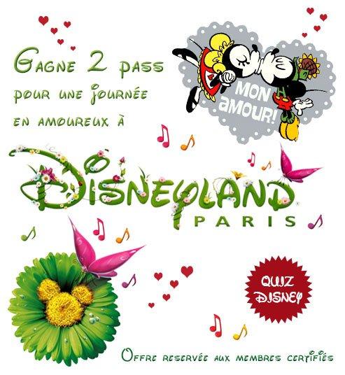 Bon plan étudiant pour gagner 2 pass Disneyland Paris pour la Saint Valentin.