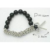 Bracelet femme, noeud, noir/blanc, or/argent, ajustable sur PriceMinister