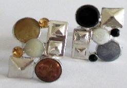 lot,bague,bijoux,fantaisie,mode,marron,noir,argenté,réglable