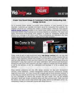Introduction of Website Designing Services