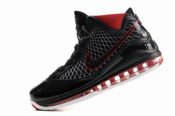 Nike Air Max LeBron 7 black silver red mens cheap