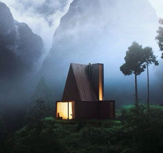 Cabin In Woods, Mountain Cabins | Modern Art Movements To Inspire Your Design