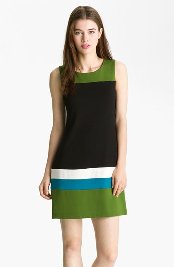 B44 Dressed by Bailey 'Carlo' Colorblock Ponte Shift Dress | Nordstrom