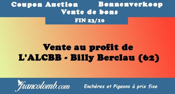 Vente : ALCBB – Billy Berclau - Francolomb