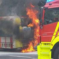 Mesures de précaution: Bus en flammes: la Ville met 14 véhicules à l'arrêt