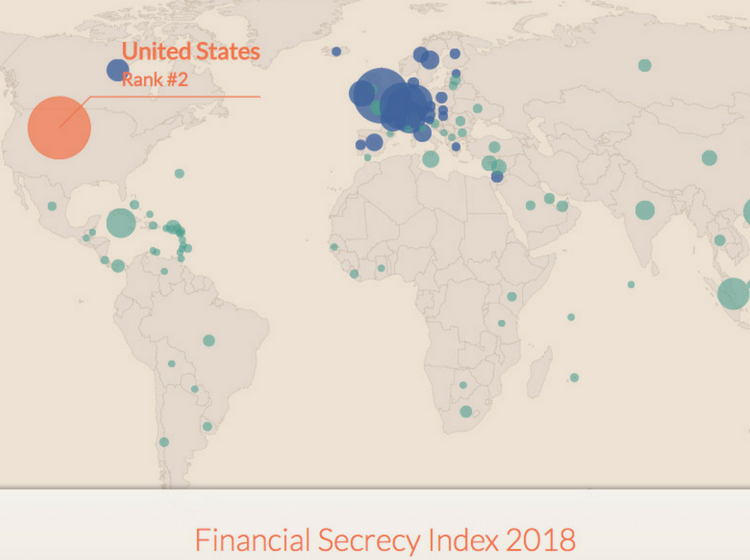 Índice de Secreto Financiero 2018: Estados Unidos ocupa el segundo lugar