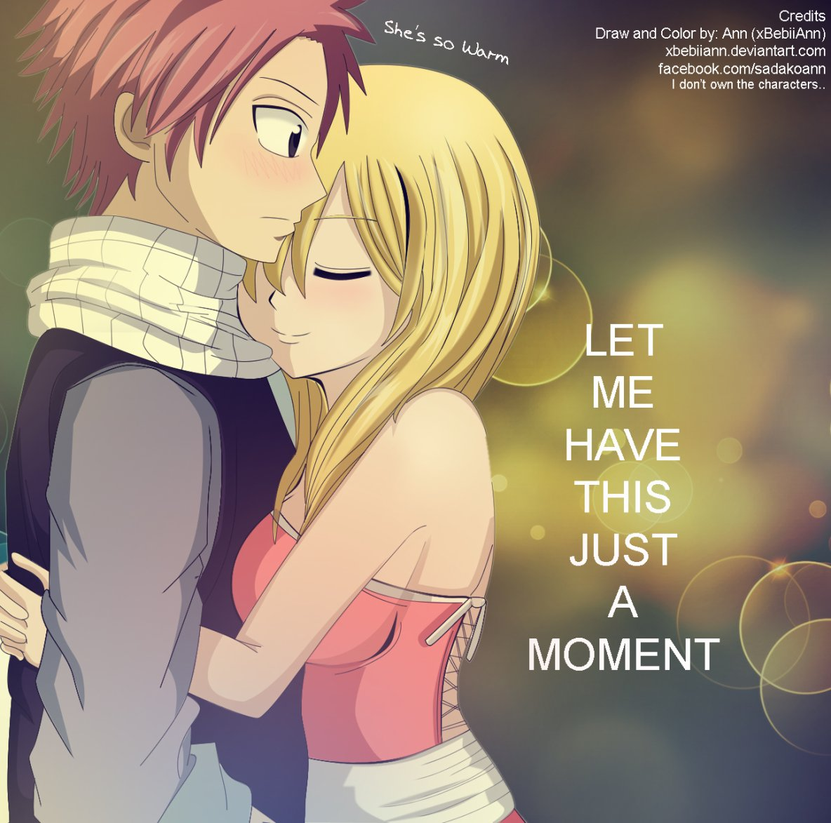 Natsu and Lucy by ~xBebiiAnn on deviantART