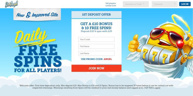 Slots Angel Casino | Get 100% & 10 Spins on Welcome Bonus