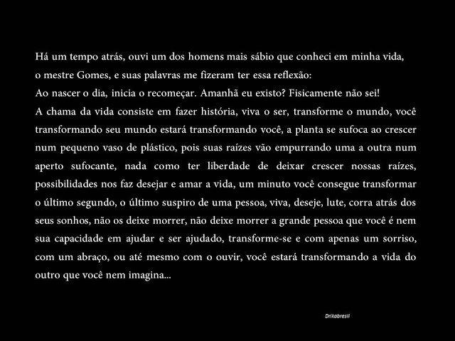 FALANDO DE TUDO: REFLEXÃO PARA A VIDA