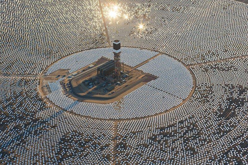 Biggest solar thermal power plant in California