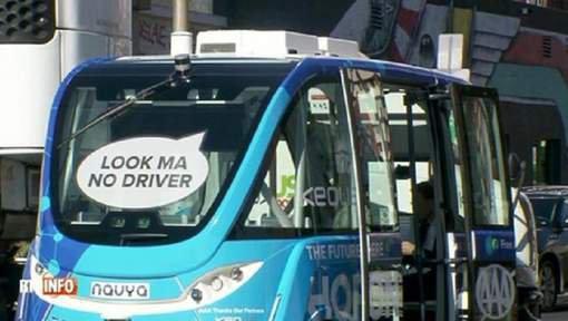 Une bus autonome heurté par un camion lors de sa mise en service à Las Vegas