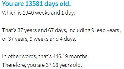 Combien de jours as-tu ? Découvre ton âge en jours