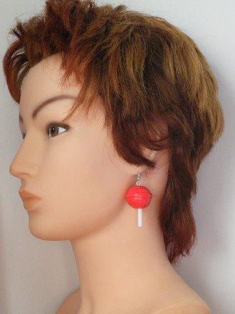 Boucles d'oreille sucette en fimo Argent 925 : Boucles d'oreille par jl-bijoux-creation