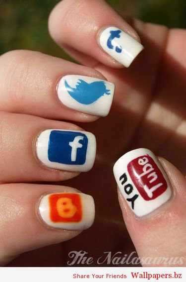 Super Cool Art On Finger Nails | Funny Wallpapers