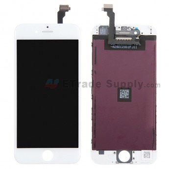 Apple iPhone 6 LCD Screen and Digitizer Assembly with Frame White - ETrade Supply