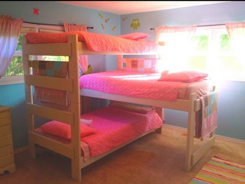 Triple Bunk Beds for Dormitory