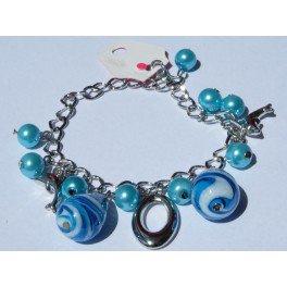 "Bracelet perles et pendentif ""dauphin"""