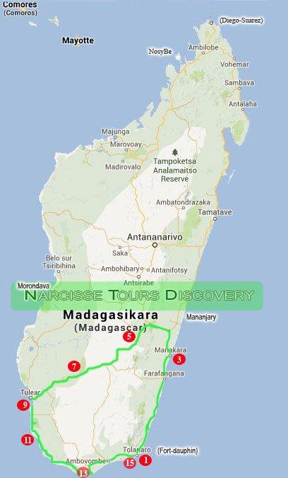 MADAGASCAR'S BIG SOUTH LOOP:Tour for 15 Days