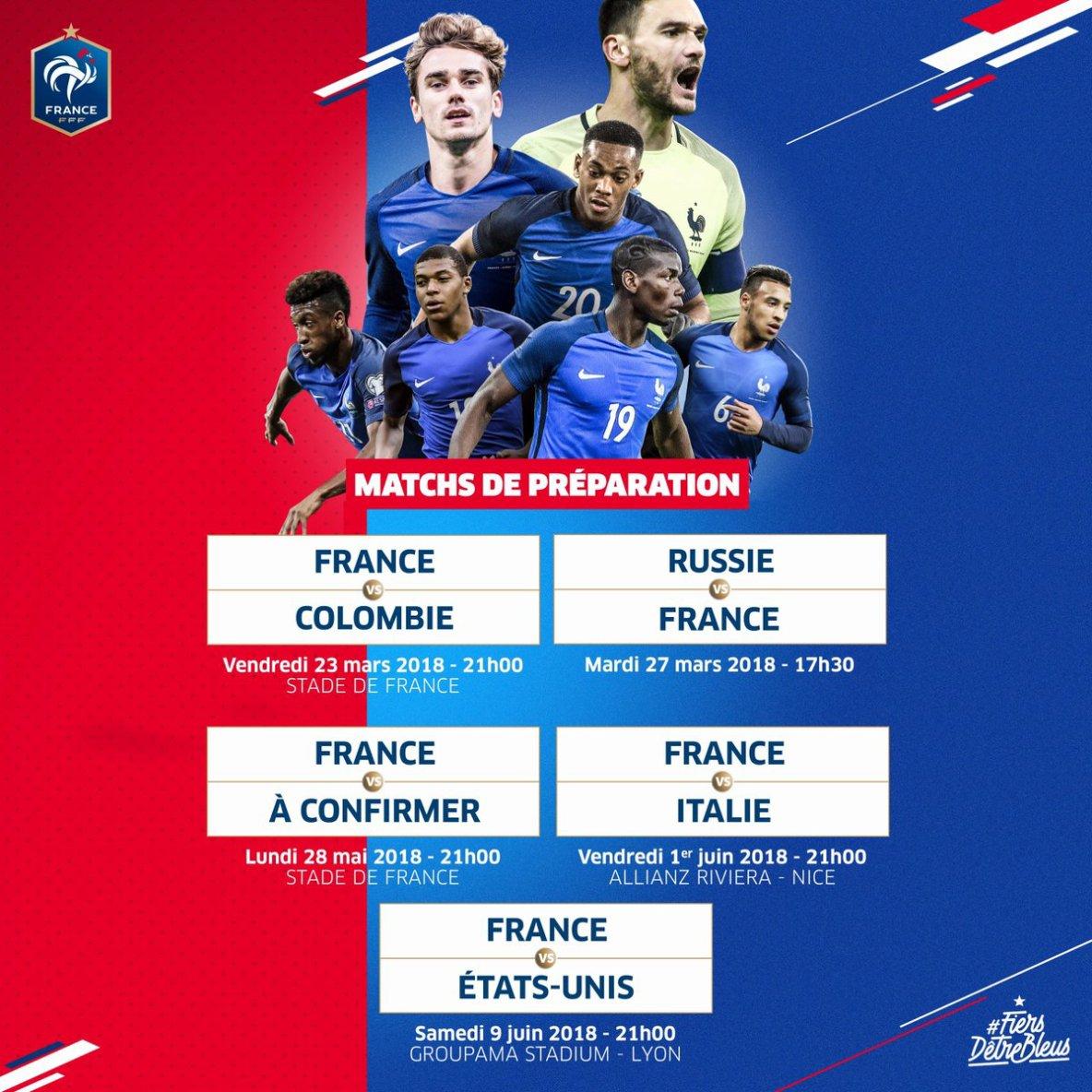 MATCH DE PREPARATION DE L'EQUIPE DE FRANCE